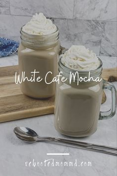 This rich and decadent gourmet coffee drink is every bit as delicious as the expensive concoctions available at your local coffee shop. #coffeedrinks #nationalwhippedcreamday #mocha Whipped Cream Ingredients, Homemade Whipped Cream, Melting Chocolate Chips, White Chocolate Chips, Cafe Mocha Recipe, White Cafe, Coffee Drink Recipes, Baked Chips, Shop Ideas