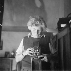vintage everyday: 18 Vintage Snapshots of Self-Portraits from between the 1930s and '40s