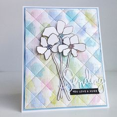 Diane Jaquay: Simon Says Stamp Artful Flowers, Sending and Wishes Stamp Set and coordinating die set; Pretty Cards, Love Cards, Hand Made Greeting Cards, Scrapbook Cards, Scrapbooking, Embossed Cards, Friendship Cards, Cards For Friends, Simon Says Stamp