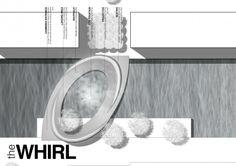 Top view - THE WHIRL (by Marc de Vrij & Melle van Dijk)  Ørestad, Copenhagen hotspot design for Innosite 'Mind the gap' competition. Landscape architecture.