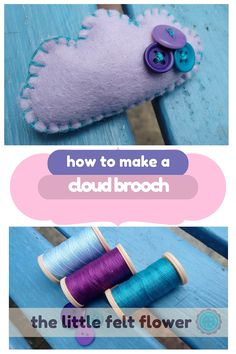 Craft Tutorials, Sewing Tutorials, Craft Projects, Projects To Try, Diy Crafts For Gifts, Felt Crafts, Felt Patterns, Felt Diy, Felt Flowers