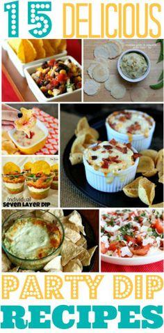 Party Recipes: 15 Delicious Dip Ideas