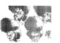 Takeshi Koike Afro Samurai original character designs/ bg illustrations for the 2003 animated pilot by Gonzo/GDH which was shown to Samuel Jackson which resulted in it being picked up as a series. Character Concept, Concept Art, Character Design, Caricature Drawing, Dope Art, Character Development, Japanese Artists, Art Inspo, My Arts
