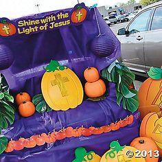 christian pumpkin trunk or treat car decorations - Christian Halloween Decorations