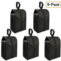 5448f4e91c Travel Shoe Bags Set of 5 14.8x7 Portable Shoe Tote Bags with Multi-purpose
