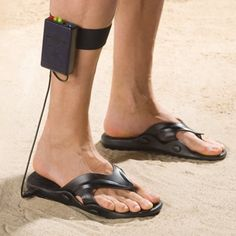House Arrest? Nope, just a pair of Metal Detecting Sandals. HA! If you need a way to look ridiculous and find treasure all at once this is your product!
