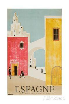Espagne Poster Impression giclée