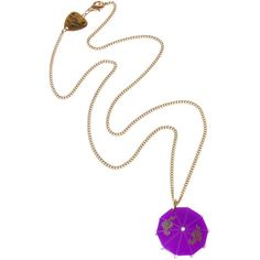 Cocktail Umbrella Purple Pendant
