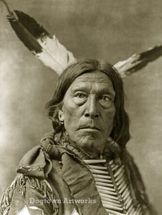 Gray Eagle, Professionally Restored Reprint of Vintage Native American Sioux…