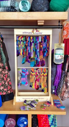 Our new Solemate Socks display! These great mismatched socks are perfect for the chilly weather ahead! $16