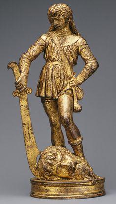 David with the Head of Goliath, 15th century (1470–80) Bartolomeo Bellano (Italian, Paduan, 1437/38–1496/97) Gilt bronze, oil gilding of later date