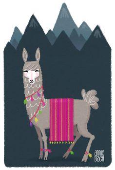 Llama Llama Red Pajama, Llama Alpaca, Cute Llama, Alpacas, Llama Drawing, Evil Bunny, Llama Arts, Baby Posters, Illustration
