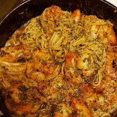 Cajun Shrimp Scampi Recipe, Shrimp Scampi Ingredients, Shrimp Scampi Pasta, Garlic Shrimp Pasta, Shrimp Recipes Easy, Fun Easy Recipes, Seafood Recipes, Pasta Recipes, Cooking Recipes