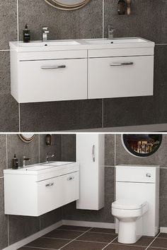 This Vanity Unit features a smooth soft-close drawer and chrome handle, that will add more value to this compact vanity unit. Supplied fully assembled with 5 Year manufacturer guarantee. Search more! ............................................................................................................................................#VanityStorageUnit #BathroomDesign #WallHungDoubleBasinUnit