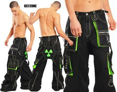 Amok UV Green Radioactive Pants - LIMITED SUPPLY!