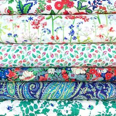 Love this new stash pack--it feels like summer! - Thanks to @duckadillyfabrics! #libertygardenparty