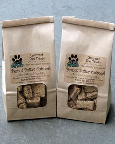 Gourmet Dog Treats, 1 Bag. $7.00, via Etsy.