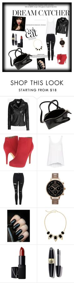 """""""Untitled #14"""" by dinelaa ❤ liked on Polyvore featuring IRO, Givenchy, Michael Antonio, rag & bone, Topshop, Olivia Burton, Mixit, NARS Cosmetics, Max Factor and IVI"""