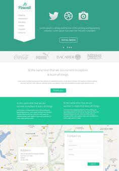 Pinwall - Free Website PSD Template