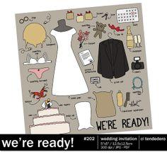 "Funny wedding invitation ""We're ready!"""