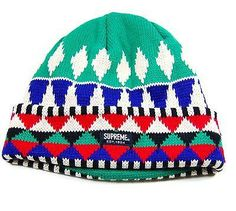Supreme Patterned Knit Beanie $49.00