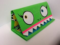 Monster Duct Tape Wallet by BlindCyclops on Etsy, My Little Pony Applejack, Duct Tape Projects, Duck Tape Crafts, Box Bag, Passport Wallet, Duct Tape Purses, Duck Tape Wallet, Michael Kors Jet Set, Flower Pens