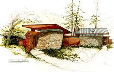 Nothing compares to hand drawn renderings. Duncan Nicholson - Architect  copyright