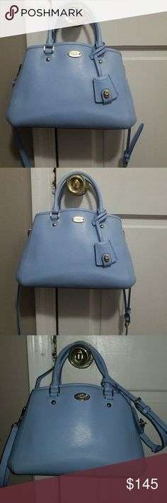 COACH Great condition,  minor flaws shown in pictures. Beautiful pale blue color. 100% authentic. Coach Bags