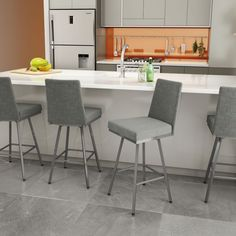 Amisco Linea Swivel Upholstered Counter or Bar Stool - 41320 #AmiscoIndustries #Contemporary