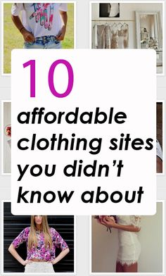 10 affordable clothing websites you might not know about. What a good find