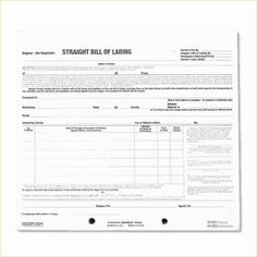 20 Best Bill Of Lading Forms Templates Images On Pinterest Sample