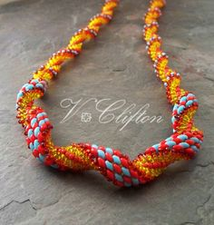 Super Duo Spiral Stitch Necklace Pattern by VCArtisanOriginals, $5.00