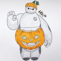 Baymax in a pumpkin dress-video is now online on my yt channel/link in bio