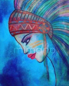 #super #weekend #offer only DKK 1.500 for this #lovely #lady - this #painting is the size 60 x 80 cm ❤️ #art #artwork #abstractart #abstractpainting #nativegirl #native #nativeart #boligpluss #interiør #interiordesign #interior #beautiful #decor #decoration #onlyinterior #womanart #womanartist #instaart #instaartist #mitthem #ditthem