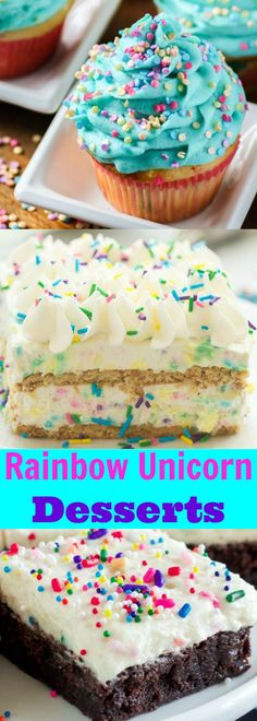 Rainbow Unicorn Sprinkle Desserts Sure to Make You Happy!