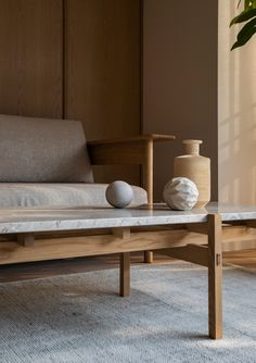 Take a Peek at This Stunning Minimal Residence Rooted in Japanese and Scandinavian Design Traditions - Nordic Design Bedroom Minimalist, Minimalist Apartment, Plywood Furniture, Cool Furniture, Furniture Design, Nordic Furniture, Japan Design, Nordic Design, Scandinavian Design