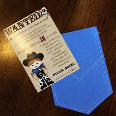 A Rootin' Tootin' Good Time blue and gold banquet idea.  Idea for next year or pack meeting.