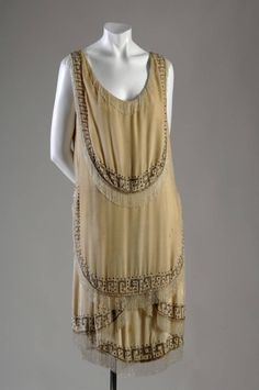 "Evening gown, 1926. Gabrielle ""Coco"" Chanel, France. Silk velvet, rhinestone, glass bead"