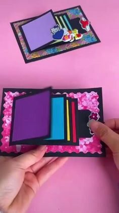Diy Crafts Hacks, Diy Crafts For Gifts, Diy Arts And Crafts, Fun Crafts, Paper Crafts Origami, Paper Crafts For Kids, Diy Paper, Paper Crafting, Handmade Paper Boxes