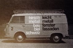 van lettering for Hirsch Metall (1960's)