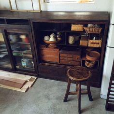 Shabby Chic Kitchen, Diy Kitchen, Home Room Design, Living Room Designs, Japanese Furniture, Zen Design, Living Room Cabinets, Japanese House, Dream Rooms