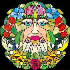 """The """"Flowerwoman"""" with a Variety of Flowers - Vinyl Stained Glass Film, Static Cling Window Decal by Window Art in Vinyl Etchings, http://www.amazon.com/dp/B009OXCFA2/ref=cm_sw_r_pi_dp_0g1Wrb08FSFBT"""