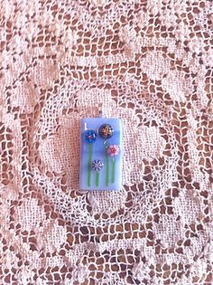 Millefiori Fused Glass Flower Garden Pendant by shasglasscrafts, $22.00