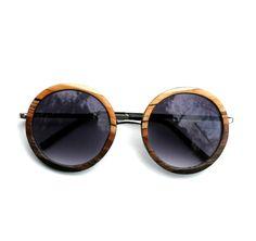 New Moon Rising Circle Ombre Wood Veneer Sunglasses by Tumbleweeds Handcraft