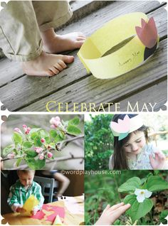 Making May Day: ideas to make and celebrate {a simple tradition for a last minute May Day activity with children}#MayDay