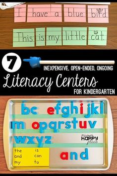 How to Create Literacy Centers in Kindergarten: 7 Inexpensive, Open-Ended, Ongoing Center Ideas