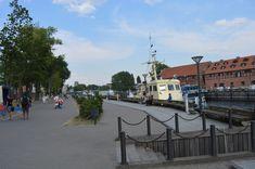 Старая часть города Клайпеды. Набережная реки Дане.
