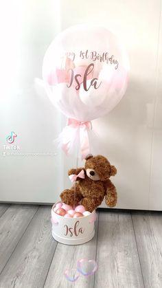 Balloon Box, Baby Balloon, Balloon Gift, Balloon Flowers, Balloon Bouquet, Balloon Ideas, Balloon Crafts, Birthday Balloon Decorations, Birthday Balloons