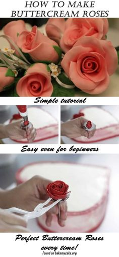 Simple tutorial for making buttercream roses! Learn how to make buttercream roses like a pro in 10 minutes!