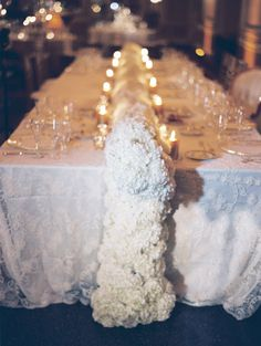 #centerpiece, #white  Photography: Clary Pfeiffer Photography - www.claryphoto.com  Read More: http://www.stylemepretty.com/2014/12/09/glamorous-victorian-inspired-st-louis-wedding/